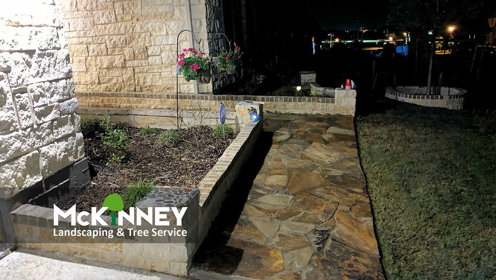 Gallery - Cement, Concrete, & Masonry: Pavestone Walkway