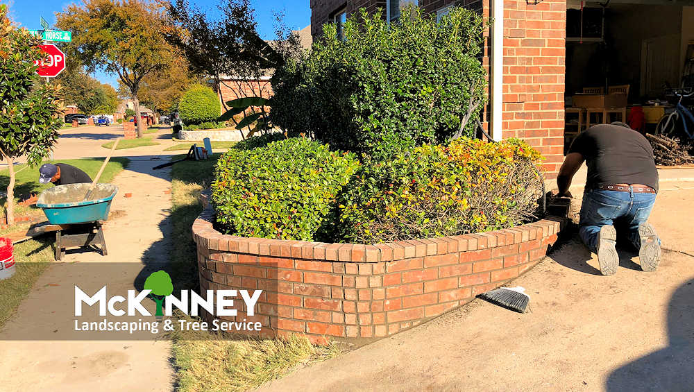 Gallery - Cement, Concrete, & Masonry: Brick Retaining Wall