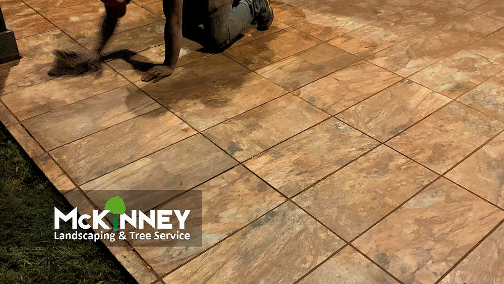 Gallery - Cement, Concrete, & Masonry: Patio Tiled Blocks