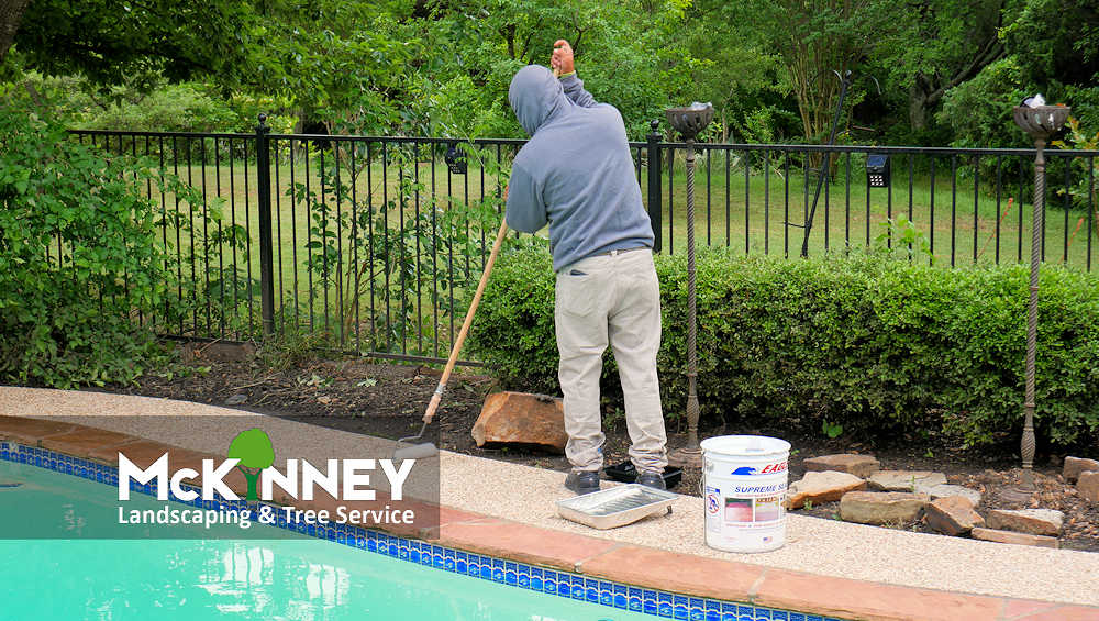 Gallery - Cement, Concrete, & Masonry: Staining by Pool