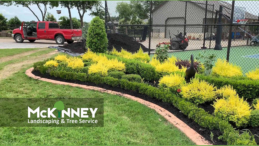 Gallery - Mowing: Flower Bed Tennis Court